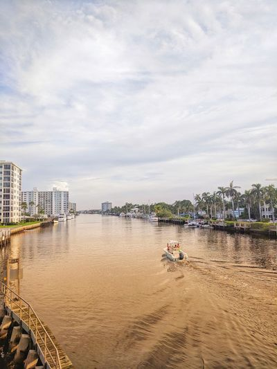 Water Canal Architecture Beauty In Nature Bridge Building Building Exterior Built Structure City Cityscape Cloud - Sky Connection Day Mode Of Transportation Nature Nautical Vessel Outdoors River Sky Transportation Water Waterfront