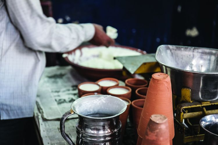 Lassi stall in Jaipur, India Bar Drink Food Food And Drink Jaipur Lassi Milk Shop