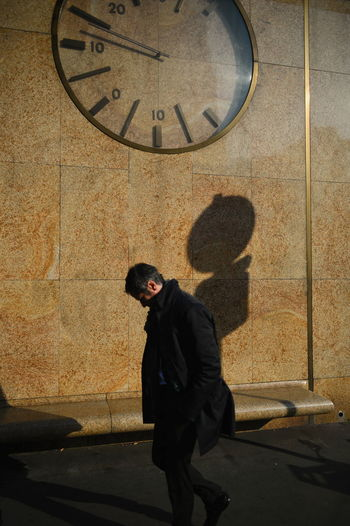 Paris #2 France Paris Silhouette Clock One Person Shadow Streetphotography Time