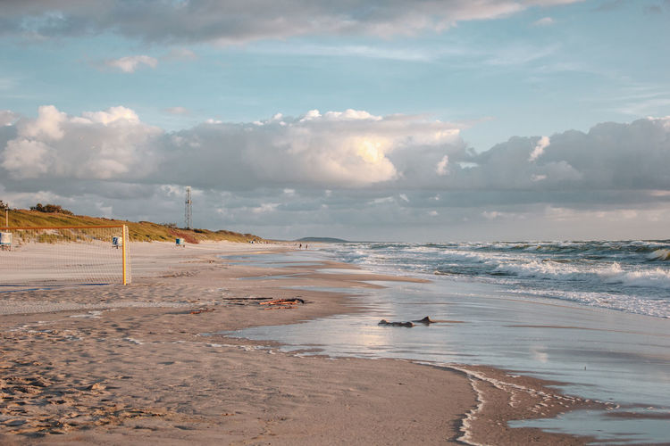 Curonian Spit Lietuva Lithuania Beach Beauty In Nature Cloud - Sky Environment Golden Hour Horizon Idyllic Land Location Nature No People Non-urban Scene Outdoors Place Sand Scenics - Nature Sea Sky Sunsets Tranquility Water Wave