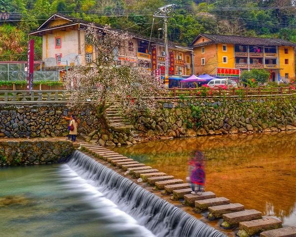 Landscape Fujian, China Ancient Architecture Colorful Houses Tulou This Is China Capture Freedom Now At This Time of fujian nanjing