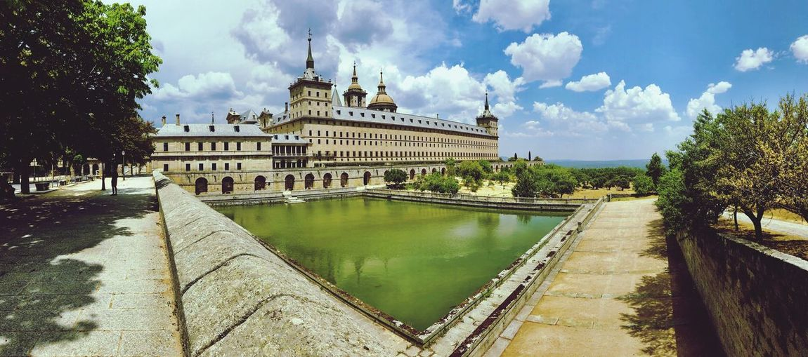 El Escorial.., Scenics Architecture Cloud - Sky Water Sky Built Structure Building Exterior Travel Destinations Nature Tourism The Past Travel History Plant Reflection Tree Day City Building No People Government