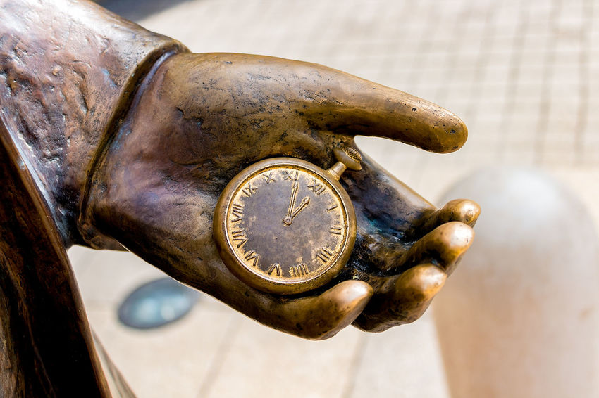 Hand Clock Watch Ticker Time Close-up