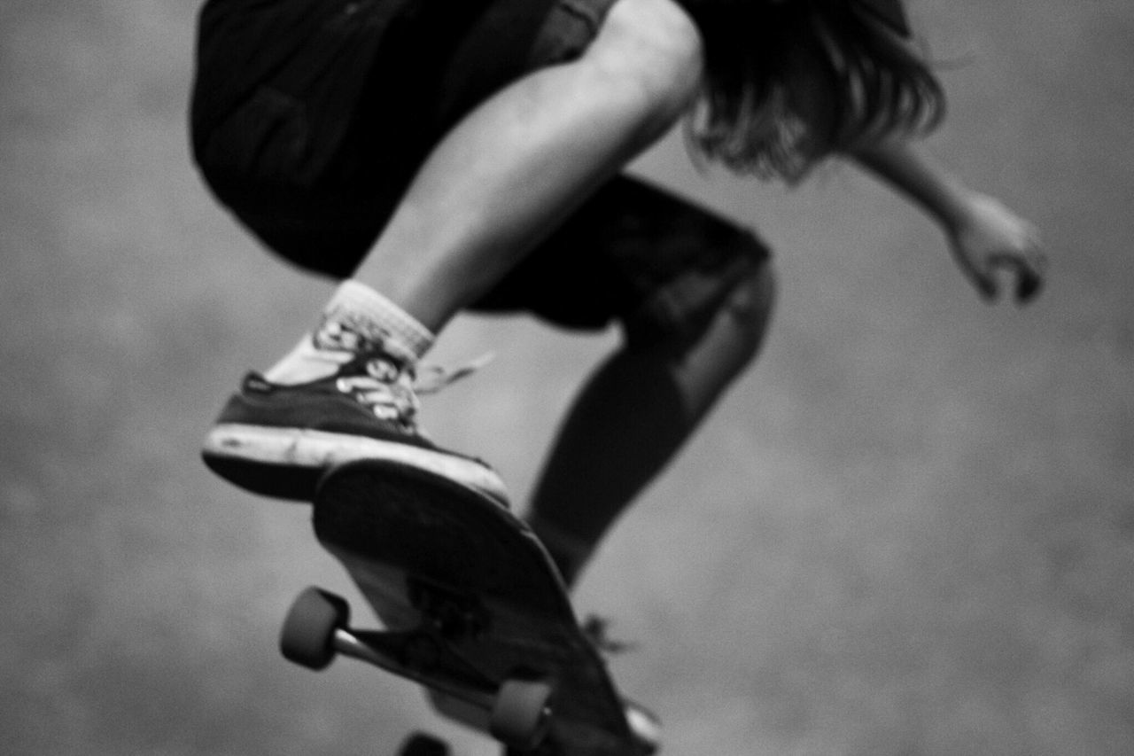 Low Section Of Person Skateboarding