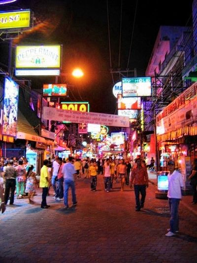 Pataya Beach Night Street Night City Pataya Night Travel Photography
