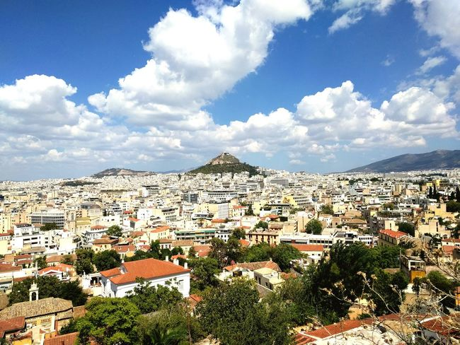 Blue City Cityscape Travel Destinations Cloud - Sky Travel Urban Skyline Tourism Sky Outdoors Vacations Day Athens, Greece Reasontovisitgreece Lycabettus Acropolis, Athens EyeEmNewHere