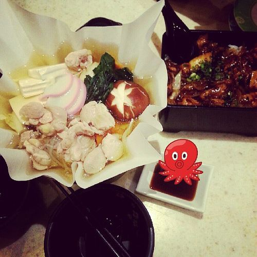 Happy meal. Japanese