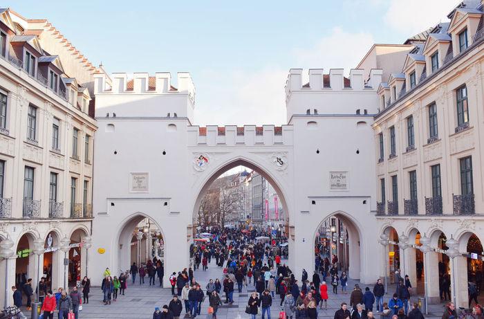 Bavaria Karlstor Munich Tourists Bayern Door Muenchen Tourism