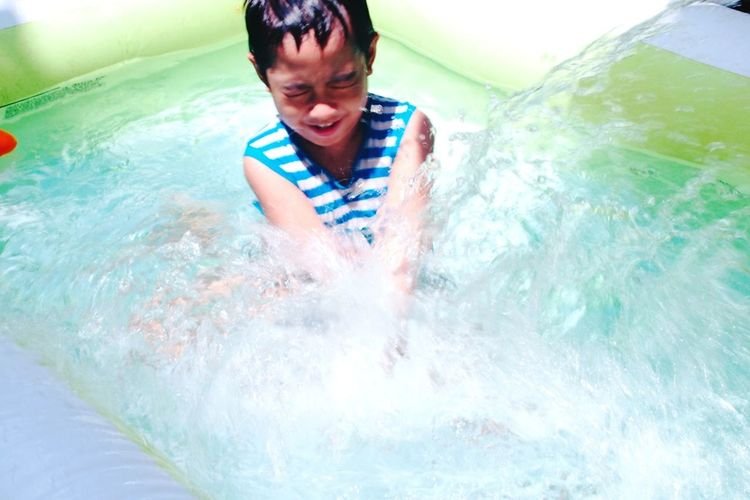 Swimming with my brother is the best! EyeEm Best Shots EyeEm Best Shots - People + Portrait Eyeem Philippines The Portraitist - 2016 EyeEm Awards EyeEm Best Shots - Everything Wet The Portraitist Olympuspenep3 Water Child Splash Happy Happiness My Brother  Pool Summer Enjoyment Fun A Child's Joy Capture The Moment EyeEm Best Shots - Candid Things I Like The Essence Of Summer