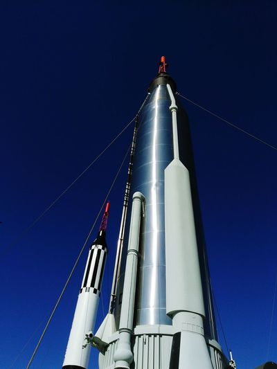 into the blue Rockets Missile Low Angle View Industry Blue Business Finance And Industry Day Outdoors Factory