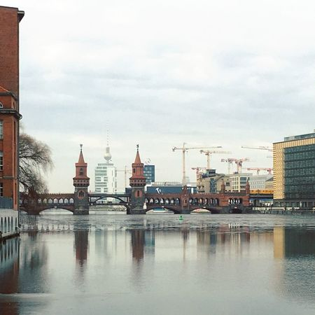 Architecture Berlin Photography Oberbaumbrücke Spree Abstract Architecture Berliner Ansichten Berlinstagram Building Exterior Built Structure City Cityscape Cloud - Sky Day Dome Minimalism Nature No People Outdoors Sky Skyporn Travel Travel Destinations Water Waterfront