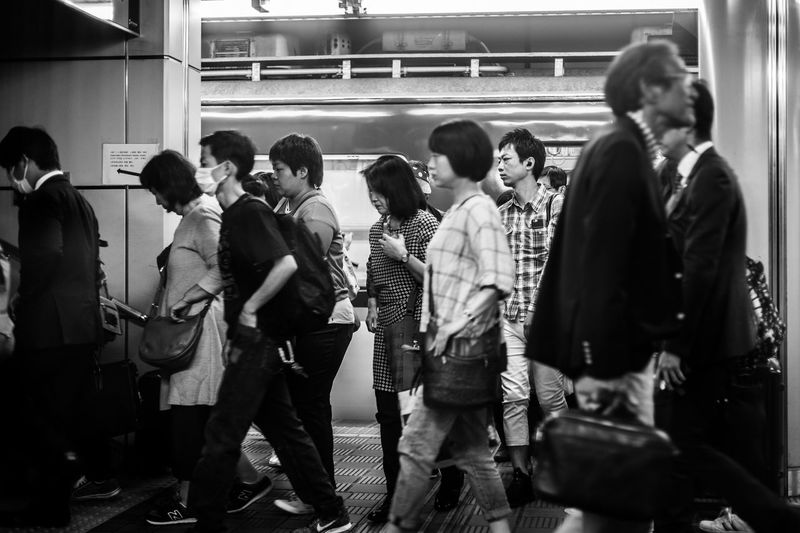 Group Of People Crowd Real People Large Group Of People Rail Transportation Men Public Transportation Transportation Railroad Station Adult Women Commuter Train Architecture Mode Of Transportation Railroad Station Platform Indoors  Motion Waiting Nightlife EyeEmNewHere