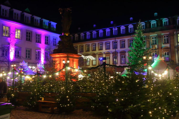 Christmas Markt German Christmas Market Heidelberg Architecture Building Exterior Built Structure Celebration Christmas Christmas Decoration Christmas Lights Christmas Tree Eyeem Christmas Illuminated Night No People Outdoors