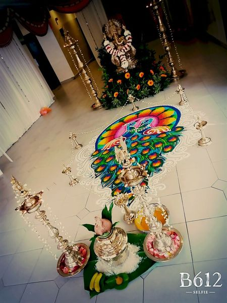 Wedding Photography Colorful Rangoli.
