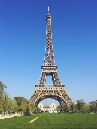 Beautiful Eiffe Tower in April 2017 Paris Eiffel Tower Eiffeltower Toureiffel Travel Clear Sky Tourism First Eyeem Photo