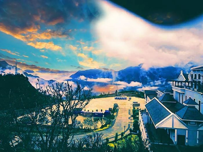 Sapa, Vietnam Mountain High Angle View Sea Outdoors Water Sunset Scenics Multi Colored Travel Destinations Nature Landscape Tree Sky Nautical Vessel No People Architecture Beauty In Nature Day City