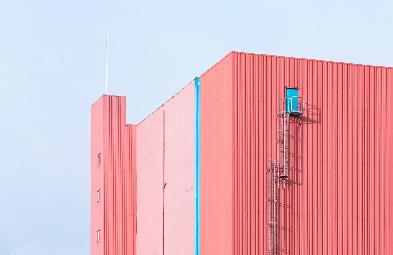 Pink building against sky
