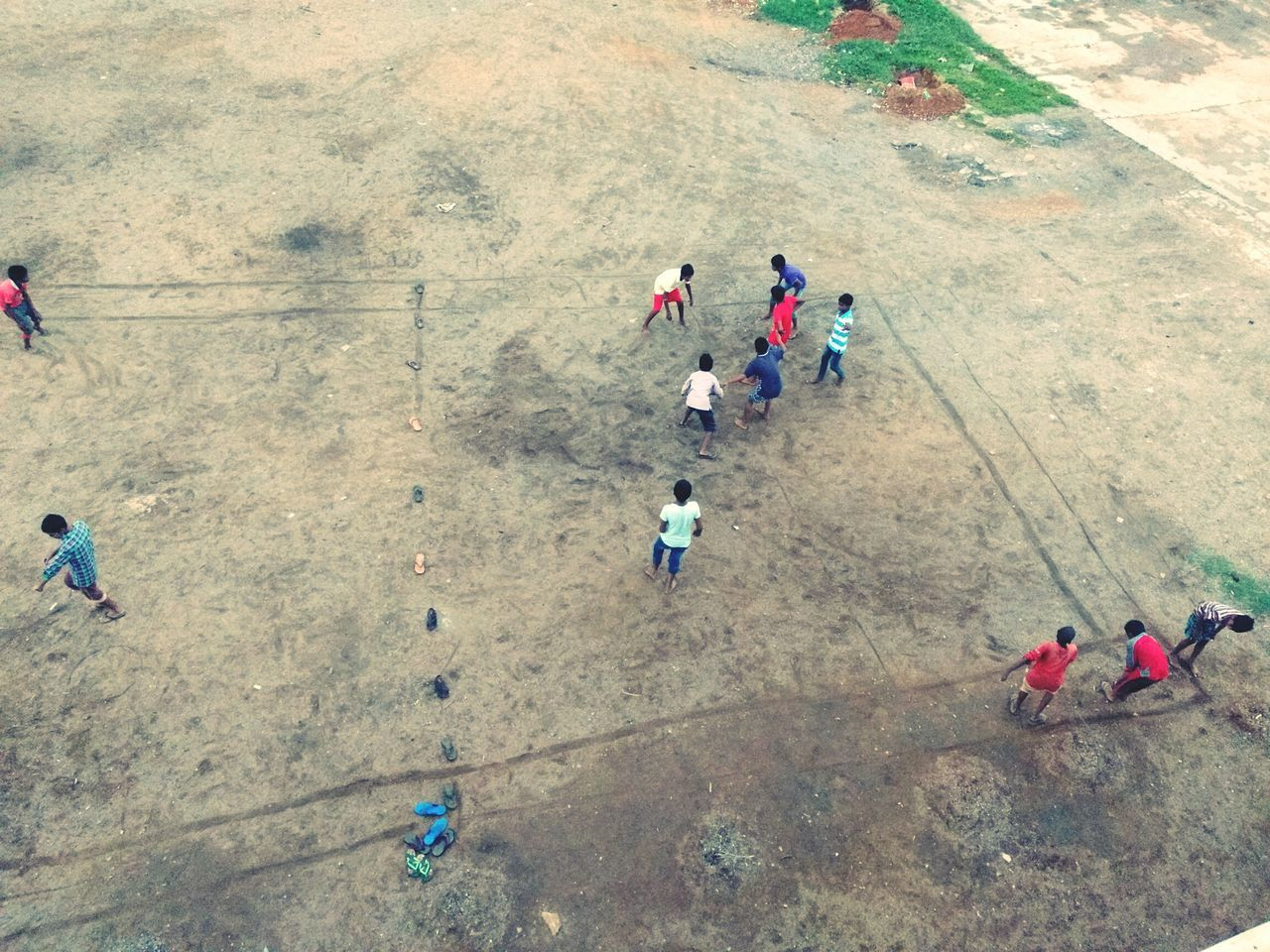 high angle view, medium group of people, men, full length, day, outdoors, togetherness, adult, people, young adult, teamwork, real people, nature, adults only