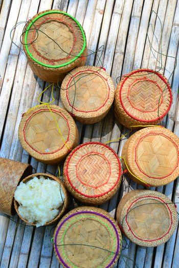 A Wicker Rice Containers Local Utensil In Thailand Culture Local Culture Local Culture In Thailand ใน Thailand