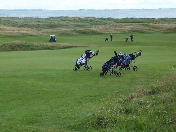 Golf Golf Course Golfers Green Royal Dornoch Golf Course Golf Bag Sea Trolleys Golf Buggy