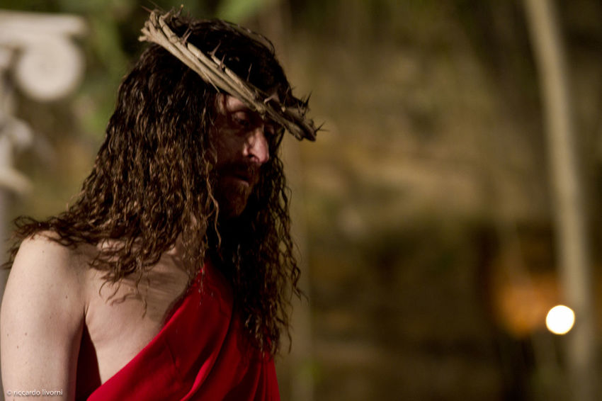 Backgrounds Blood Calvary Catholic Cross Crown Crucifix Death Easter God Holy Jesus Jesus Christ Long Hair Love Man One Person Pain Passion Real People Religion Religious  Suffering Symbol Via Crucis