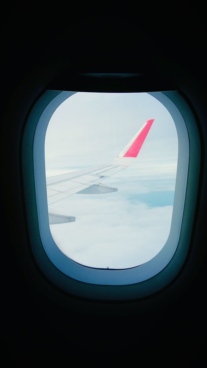 airplane, transportation, window, air vehicle, journey, flying, vehicle interior, travel, mode of transport, no people, airplane wing, indoors, mid-air, commercial airplane, close-up, sky, day