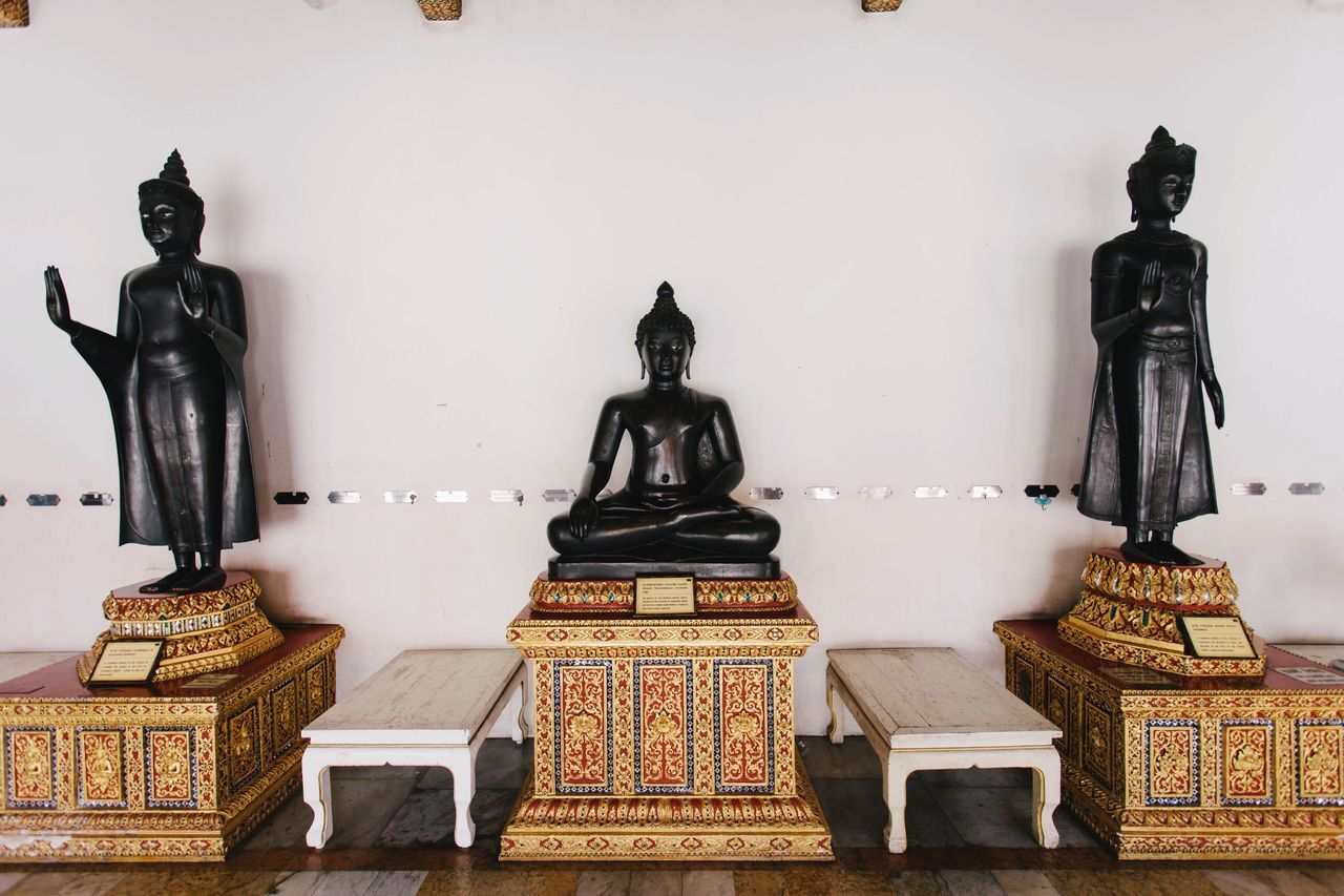 statue, human representation, sculpture, male likeness, art and craft, creativity, spirituality, religion, indoors, no people, place of worship, day