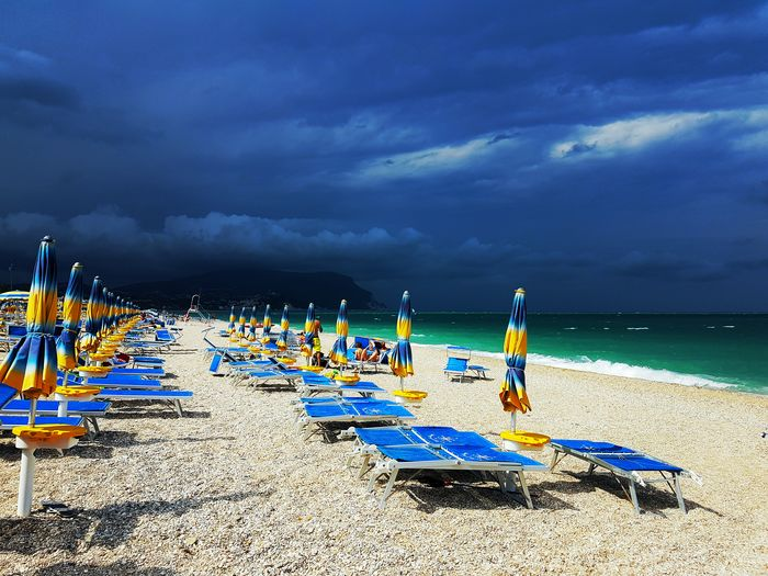 Spiagge italiane Photo Pic Art Capture Eos77D Canon Moment Storm Cloud - Sky Sand Sea Summer Nature Cloud - Sky Sky Outdoors Horizon Over Water Vacations Water Nautical Vessel Day People Only Women Adult Adults Only