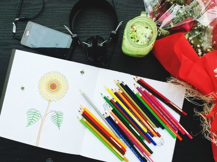 Desks From Above Coloring Eyem Philippines Artsy Flowers Secret Garden Johanna Basford Coloring Book Working Desk The Mix Up Colour Of Life