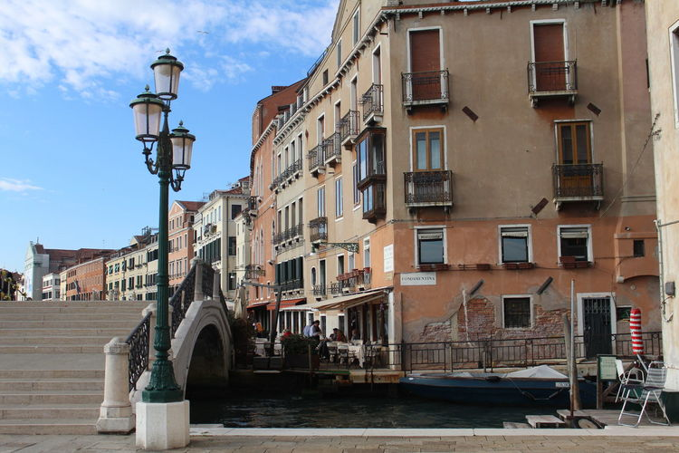 Marco Polo Architecture Balcony Building Exterior Canal City Cityscape Clock Culture Day Faded Gondola Gondola - Traditional Boat Historic Italy Lamp Post Marco Polo No People Outdoors Picturesque Sky Stairs Travel Destinations Window