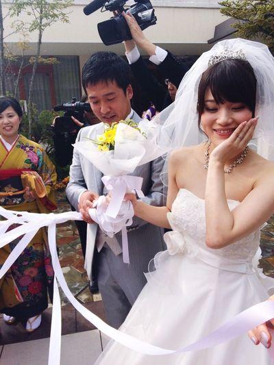 末長くお幸せに、私の大好きなあすちゃん(﹡ˆωˆ﹡) Happy Wedding Bride Loveyou Beautiful Girl Marriage  Check This Out Enjoying Life Fashionshow Hi! Bouquet