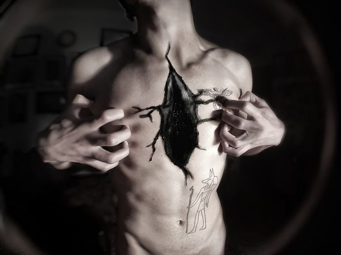 Heartless Malemodel  Male Likeness Human Body Part One Person Adult Adults Only People Human Skin Close-up Young Adult Beauty Model - Object Portrait Black Background