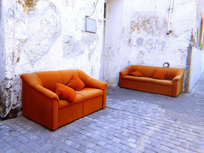 Abandoned Nicosia, Cyprus Nicosia, Cyprus Streetphotography Street Photography EyeEm Selects Home Showcase Interior Living Room Domestic Room Furniture Home Interior Chair Armchair Sofa Architecture Built Structure Deterioration Obsolete Abandoned Run-down Discarded Ruined Interior Damaged Bad Condition Rusty The Still Life Photographer - 2018 EyeEm Awards