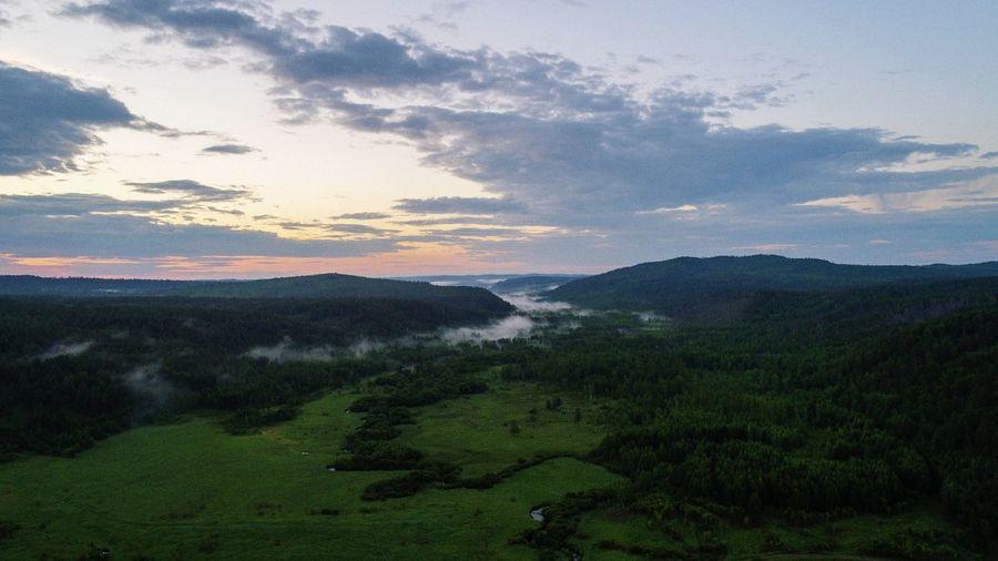 边境 漠河 俄罗斯边境 Tea Crop Tree Mountain Rural Scene Agriculture Sunset Sky Landscape Cloud - Sky Green Color