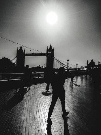 London Lifestyle Tower Bridge  London IPhoneography Blackandwhite United Kingdom Travel Man In Black Man In Suit The Street Photographer The Street Photographer - 2017 EyeEm Awards Neighborhood Map