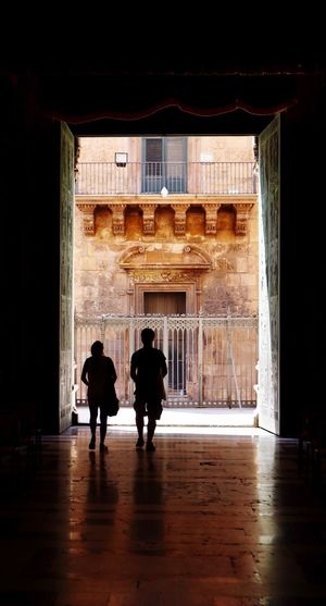 Built Structure Rear View Architecture Full Length Silhouette Real People Two People Indoors  Men Women Lifestyles City People Adult Day Adults Only Cathedral Palermo Cathedral Church Architecture_collection Architecture Palermo Sicily The Week On EyeEm