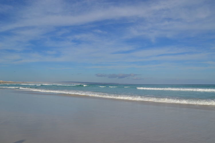 Australia Coffin Bay National Park Beach Beauty In Nature Blue Cloud - Sky Horizon Horizon Over Water Idyllic Land Motion Nature No People Outdoors Sand Scenics - Nature Sea Sky Tranquil Scene Tranquility Water Wave
