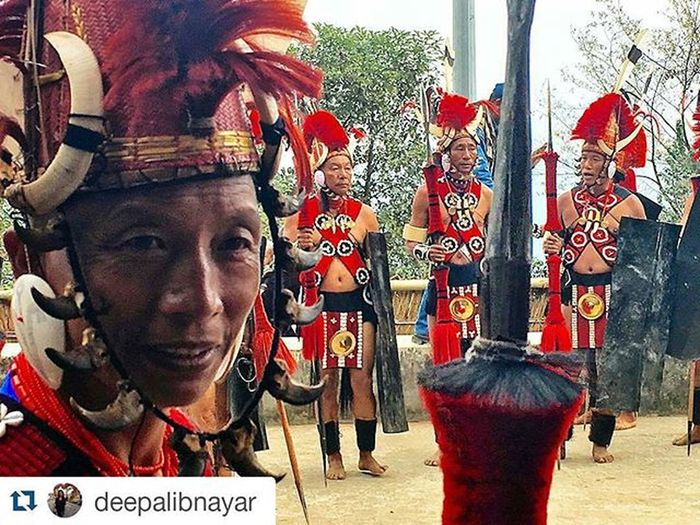 Kisama Heritage Village by Deepali Nayar Repost @deepalibnayar with @repostapp and @india.trail ・・・ Konyak Konyaktribe Nagaland Incredibleindia Fiercest Warriors Hornbillfestival Kisama Roadtrip IndiaTrail