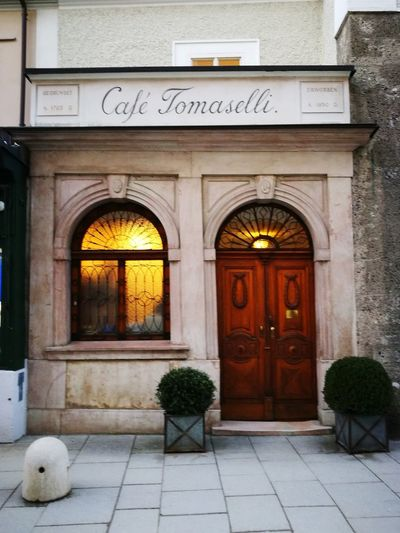 Cafè Tomaselli Kaffeehaus Storical Cafè Famous Place Door Outdoors Day No People Architecture