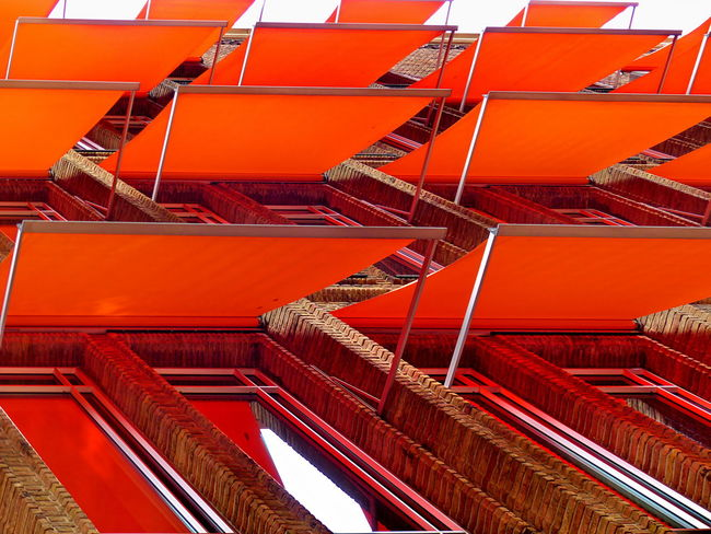 Red No People Full Frame Architecture Day Large Group Of Objects Built Structure Pattern Orange Color In A Row Side By Side Arrangement Abundance Outdoors Sun Shades