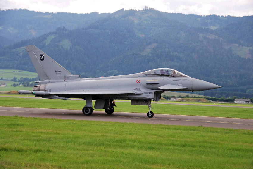 Air Vehicle Airforce Airplane Airport Runway Austrian Airforce Eurofighter Eurofighter Typhoon Flugzeug Flying Jet No People Transportation