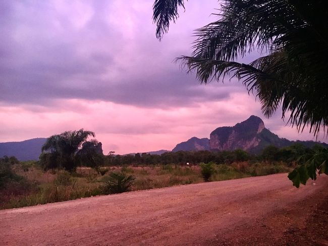 Pink World Pink Pink Color Pink Sky Purple Sky No People Colour Beauty In Nature Travel Photography Travel Tranquility Krabi Thailand Thailand Sunrise_sunsets_aroundworld Ao Nang, Krabi. Sunset_collection Sunset Nature (null)Tranquil Scene Colors Mountain Dreamy Sky