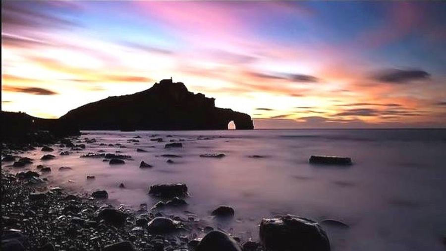 Coast Basque North Of Spain My Country In A Photo Sky Collection Capture The Moment Sea Light Night Basque Country Beautiful Nature