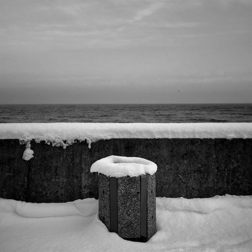 "Fresh Snow Enhances The World""s Triviality ( Monochrome ) - Gdynia 23 January 2016 ( IPhone 6+ ) IPhoneography Iphone 6 Plus Bnw_society Bnw_collection Bnw_captures Bnw Conceptual Streetphotography Streetphoto_bw EyeEm Masterclass EyeEm Gallery EyeEmBestPics EyeEm Best Shots EyeEm Best Edits Sea Sky Gdynia Poland IPS2016Winter IPS2016White"