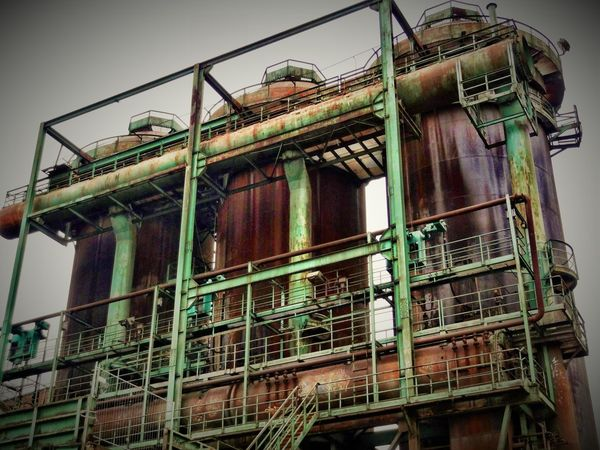 Hösch 3 Architecture Building Exterior Built Structure Day Factory History Industry Iron Manufactoring Iron Producing Low Angle View No People Outdoors Sky Staircase Steel Works Steelmill Technical Monument
