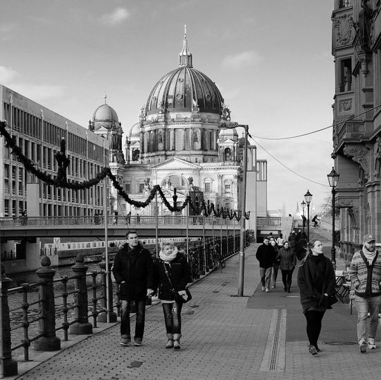 Berlin Berlincathedral Architecture Blackandwhite Streetphotography People