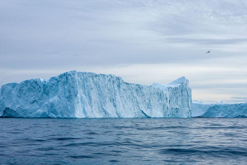 Scenic view of iceberg against sky