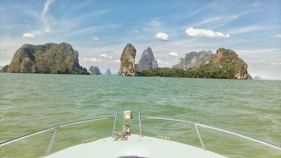 Cloud - Sky Sea Travel Destinations Water Nature Thailand Thailandtravel Thailand_allshots Thailandsky Boat Trip Boatview Sky Islands In The Sun Islands View Viewfromaboat No People Outdoors Sea And Sky Thailandluxe Thailand_allshots_nature Holidaydestination Holiday Memories Jachtlife ✌️