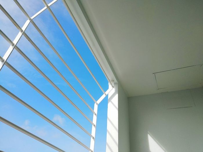 Out of windows Bluesky Outdoors Outofwindow Blue Backgrounds Architecture Sky Built Structure Full Frame Detail Pattern Skylight