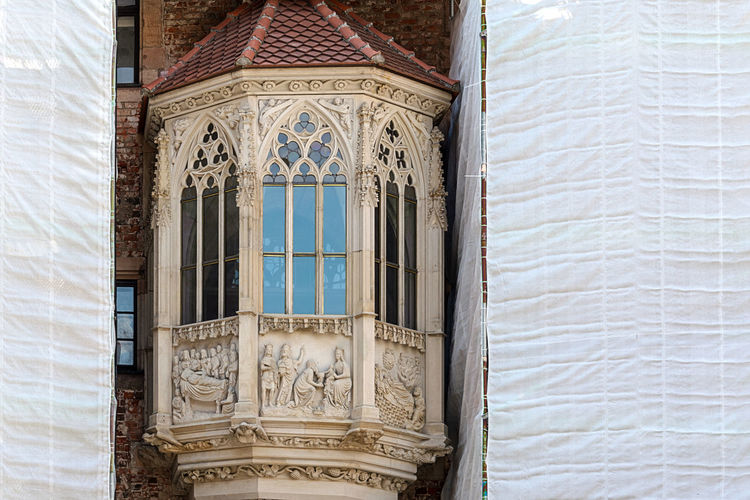 The process of restoration of a historic building in the gothic style